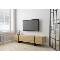 TV Schrank BLOCK | Eiche furnier