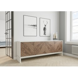 chest of drawers ABATO zigzag - walnut / graphite