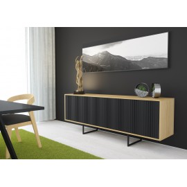 Chest of drawers ABATO Lines | oak + black