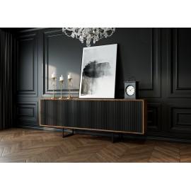 Designerska komoda ABATO LINES | orzech + czarny